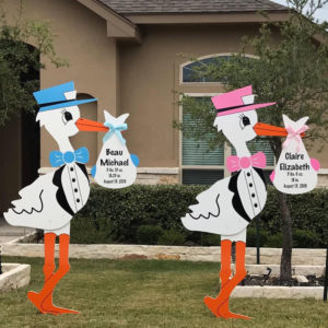 Twin Storks : Stork Rental Yard Signs in Storks of South County, Southern California